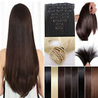 Long Full Head Hair Extension human feel Synthetic Grey brown Blonde Red Plum