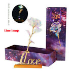 24K Luminous Crystal Galaxy Rose With Love Base Mother's day Anniversary Gift US