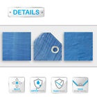 PATIO Blue Heavy Duty 5 Mil Tarp Canopy Tent Shelter Boat Reinforced Resistant
