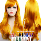 70cm Long Curly Women Cosplay Costume Party Hair Anime Wigs Wavy Wig Full Hair