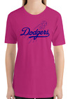 Los Angeles Dodgers pink T-Shirt royal Graphic Cotton Adult Logo Jersey LA S-2XL on Ebay
