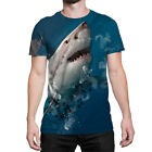 Animals Face Shark print 3D polyester t-shirt men women