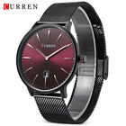 CURREN Quartz Watch Date Display Stainless Steel Band Ultra-Thin Men Wristwatch* image