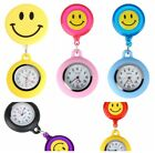 Quartz Pocket Watch Smile Face Pattern Silicone Nurse Watch Pendant 5 colour image