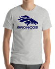 Denver Broncos GRAY T-Shirt NAVY Graphic Cotton Adult Logo  S-2XL $12.49 USD on eBay