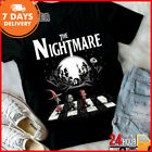 The Nightmare Jack Skellington Abbey Road T-shirt Black Cotton Tee Made in USA  image