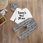 FixedPrice3pc newborn baby boy romper jumpsuit tops + long pants + hat outfits clothes set