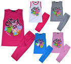 Girls 2 Piece Set Vest Top and Leggings Set Kids New Summer Outfit Age 2-10 Year