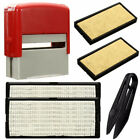 Custom Personalised Self Inking Rubber Stamp Kit Business Name Address DIY 5line