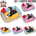 Bunty Deluxe Soft Washable Dog Pet Warm Basket Bed Cushion with Fleece Lining le