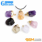 Freeform Raw Crude Quartz Natural Crystal Gemstone Pendant Reiki Necklace