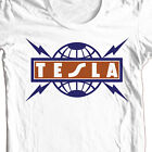 Tesla T-shirt 80's heavy metal retro classic rock concert cotton graphic tee image