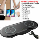 Dual Fast Qi Wireless Charger Pad For iPhone 12/11/XS Max/X/8 Plus Galaxy S20/S9
