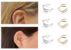 Silver Gold Ear Cuff Earring Accessories Clip On Jewellery Gift New