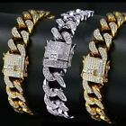 Kyпить 24K Gold Plated Cuban Miami Chain Link Stainless Steel Men Womens Bracelet на еВаy.соm