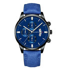 Men Leather Watch Calendar Quartz Watches Business Casual Watch