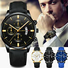 Men Leather Watch Calendar Quartz Watches Business Casual Watch  image