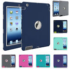 For Apple iPad 2 3 4 5th 6th Generation Tough Rubber Shockproof Hard Case Cover