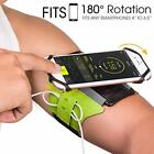 Running Armband for Smartphone 180° Rotatable with Key Holder for Hiking Biking