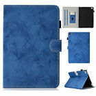 Rugged Stand Leather Flip Wallet Case Smart Wake Sleep For iPad Mini 1 2 3 4 5