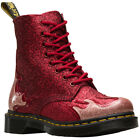 Dr.Martens 1460 Pascal Flame Synthetic Glittery Lace-Up Ankle Womens Boots