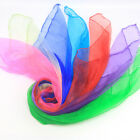 12× Candy Color Square Artificial Silk Dance Scarves Magic Juggling Props Novel