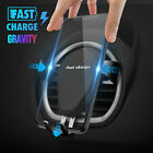 Automatic Clamping Wireless Car Charger Air Vent Mount Holder For iPhone Samsung