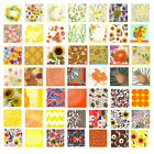 Orange yellow brown floral napkins 4 individual napkins ideal for decoupage