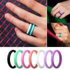 1Pc Unisex Sports Fitness Gym Silicone Ring Band Wedding Couples Gift Novel