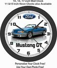 1989 FORD MUSTANG GT 5.0 CONVERTIBLE WALL CLOCK-CAMARO, FIREBIRD, DODGE, GTO