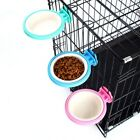 Pets Dog Puppy Plastic Hanging Food Water Cage Crate Mount Bowl Feeder Dispenser