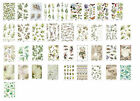 Rice Paper for Decoupage Scrapbook Craft A4 sheet cream white multi floral