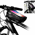 """Cycling Bicycle Bike Top Frame Front Pannier Saddle Tube Bag 6.2"""" Pouch Holder"""