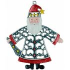 Santa Claus German Pewter Christmas Tree Ornament Decoration Made in Germany