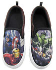 Marvel Avengers Kids Boys Canvas Shoes Slip On Loafers - Sizes 9 - 2