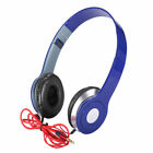 Teens Kids Foldable DJ Headphones 3.5mm Wired Game Earphones for iPad/Tablet UK