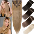 """24""""Long Straight Clip in Remy Human Hair Extensions Mix Blonde Brown Black Ombre for sale  USA"""