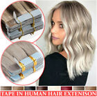8A Ombre Tape In 100% Real Remy Human Hair Extensions Full Head Thick Skin Weft