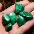 Malachite Green Tumbled Stone Healing Reiki Chakra Crystal Gemstone 2Pcs/6Pcs