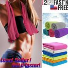 US Instant Ice Cooling Towel Golf Sports Workout Fitness Gym Yoga Hiking Pilates image