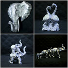 New Silver Mille Ornament Elephant Flamingo Home Decor Figurine Statue Bust Gift