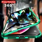 For iPhone X XS 7 8 360° Double Tempered Glass Anti-Spy Privacy Phone Case Cover $13.15 USD on eBay