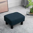 "16"" Cubed Modern Linen Fabric Pouf Footrest Ottoman Furniture"