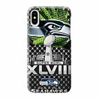 SEATTLE SEAHAWKS SUPER BOWL 48 iPhone 6/6S 7 8 Plus X/XS Max XR Case Cover $21.9 USD on eBay
