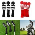 3pcs/set Wool Knit Fairway Wood Head Covers Golf Club Headcover Replacements