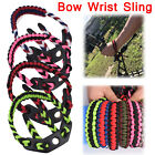Archery Bow Wrist Sling Strap Braided Compound Bow Adjustable Paracord Cool New
