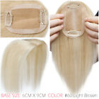 Clip In 100% Remy Human Hair Topper Toupee Piece Straight Hairpiece Wigs Women