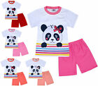 Girls Summer Set Cotton T-shirt and Shorts Set 2 Piece Kids New Age 1 2 3 4 Year