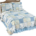 Willow Blue and Yellow Floral Patchwork Quilt image