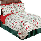 Winter Cardinals Christmas Quilt Bedding image